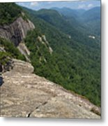 View From Exclamation Point At Chimney Rock Nc Metal Print