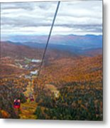 View From Mount Mansfield In Autumn Metal Print