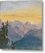 View From Mount Pilatus Metal Print