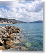 View From North Wall - Lyme Regis Metal Print