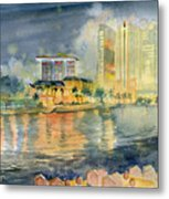 View From Quay Singapore Metal Print
