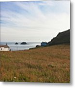 View From St Helen's Oratory Cape Cornwall Metal Print