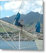 St. Kitts From The Bow Metal Print