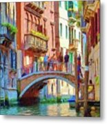 View From The Canal Metal Print