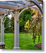 View From The Garden Way Metal Print
