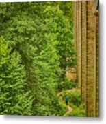 View From The Lllangollen Aqueduct In Wales Metal Print