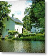View From The Mill Pond Centerbrook Ct Metal Print