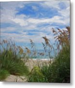 View From The Outer Banks Dunes Metal Print