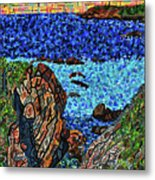 View From The Pacific Coast Highway Metal Print