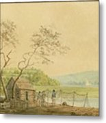 View From The Packet Wharf At Frenchtown Looking Down Elk Creek Metal Print