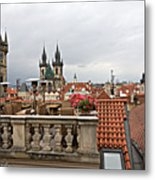 View From The Top In Prague Metal Print