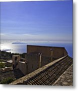 View From The Top In Sicily Metal Print