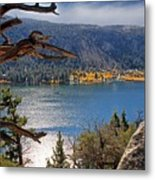 View From The Top Of June Lake Metal Print