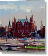 View From The Window Of The Hotel Metropol. Moscow. Manezhnaya Square. Metal Print