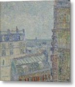 View From Theo S Apartment Paris, March - April 1887 Vincent Van Gogh 1853  1890 Metal Print