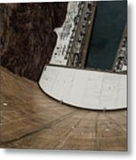 View From Top Of Hoover Dam Metal Print