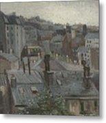 View From Vincent S Studio Paris, June 1886 Vincent Van Gogh 1853  1890 Metal Print