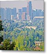 View From Wealthy Neighborhood In Hills Of Santiago-chile Metal Print