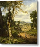 View In Berkshire County, Massachusetts, Clearing Off After A September Storm Metal Print