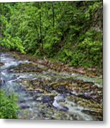 View In Vintgar Gorge - Slovenia Metal Print