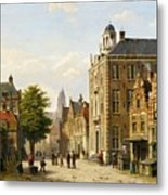 View Of A Dutch Street In Summer Metal Print
