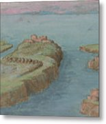 View Of A Fortified Headland Metal Print