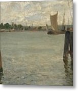 View Of A Harbour On The North Sea Metal Print