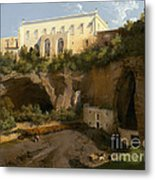 View Of A Villa, Pizzofalcone, Naples Metal Print