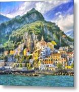 View Of Amalfi Metal Print