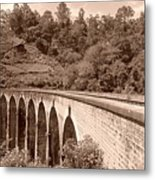 View Of Ancient Bridge Metal Print