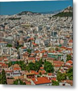 View Of Athens, Greece, From The Parthenon Metal Print