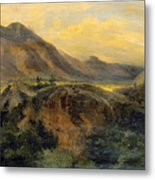 View Of Bagneres De Luchon. Pyrenees Metal Print