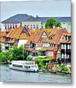 View Of Bamberg Riverfront Metal Print