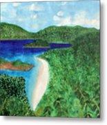 View Of Beach In St John Us Virgin Islands  Metal Print