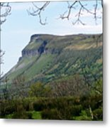View Of Benbulben From Glencar Lake Ireland Metal Print