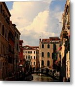 View Of Canal In Venice Metal Print