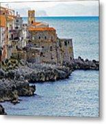 View Of Cefalu Sicily Metal Print