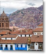 View Of Central Cuzco Peru Metal Print