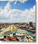View Of Central Market Landmark In Phnom Penh City Cambodia Metal Print