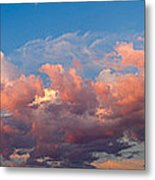 View Of Clouds In The Sky Metal Print