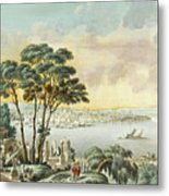 View Of Constantinople From The Marmara Sea Metal Print