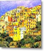 View Of Corniglia - Cinque Terre Metal Print