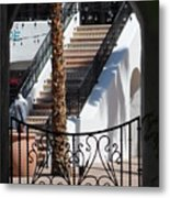 View Of Courtyard Through Adobe Doorway Photograph By Colleen Metal Print