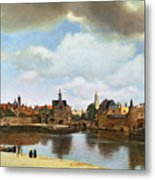 View Of Delft Metal Print