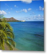 View Of Diamond Head Metal Print