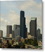 View Of Downtown Metal Print