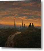 View Of Dresden At Sunset  Metal Print