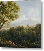 View Of Frascati Metal Print