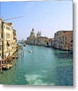 View Of Grand Canal In Venice From Accadamia Bridge Metal Print
