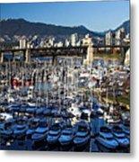 View Of Grandville Island Vancouver Canada Metal Print